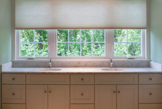 bathroom honeycomb shades