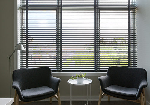 blinds in an office