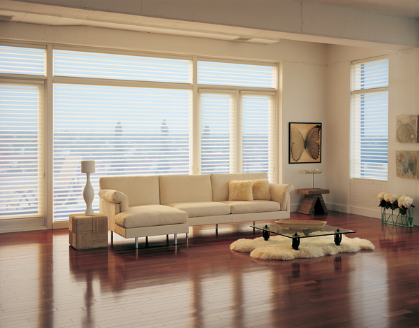 Silhouette Shades in a living room