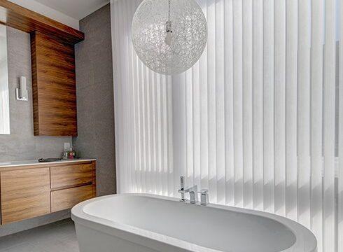 vertical bathroom sheers