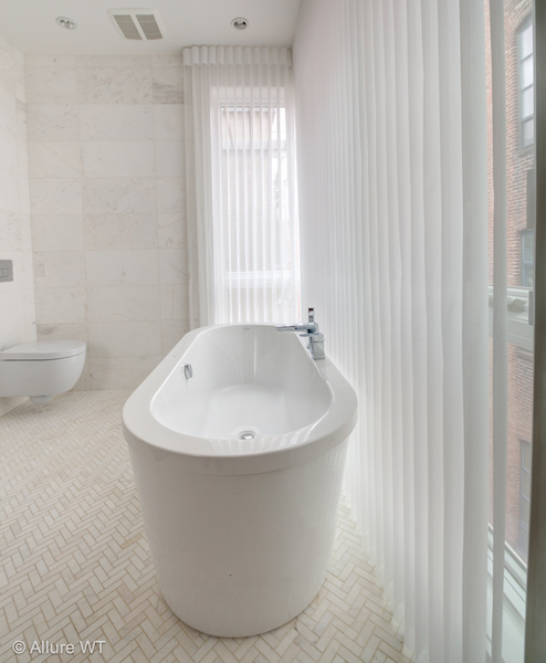 bathroom window treatments