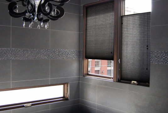 Top Down Bottom Black Honeycomb Shades