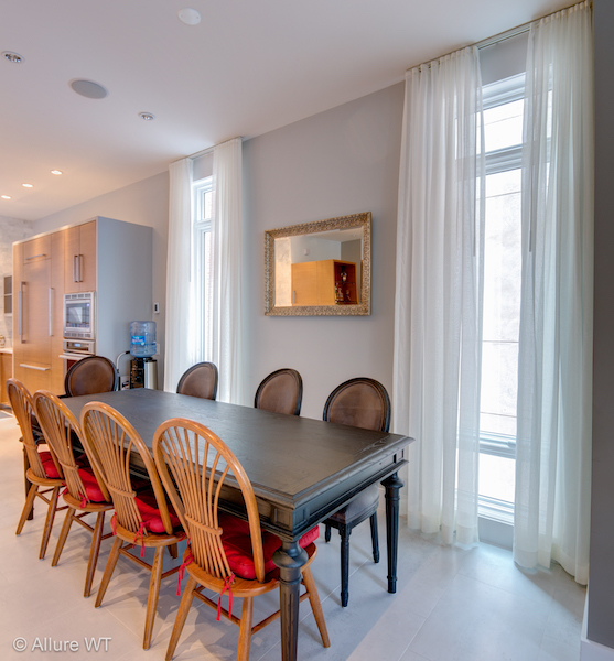 window treatments for the dining room