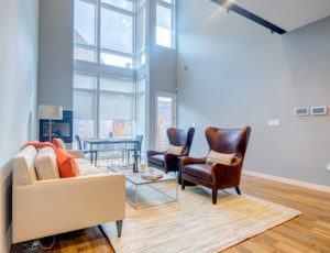 living room window treatment photo gallery