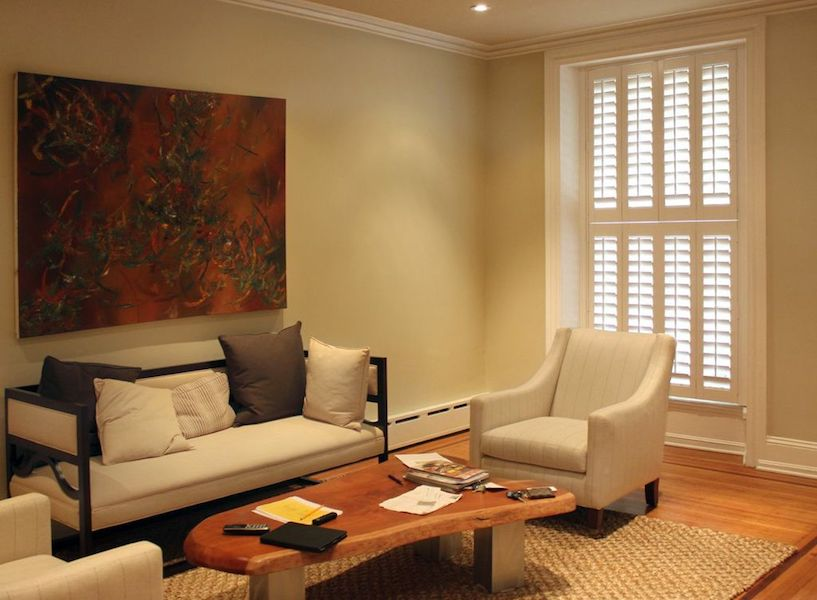 indoor shutters in living room