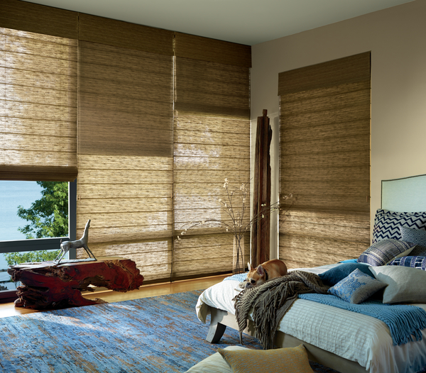 images of woven wood shades
