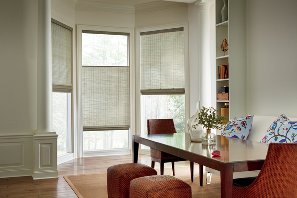 pictures of woven wood shades