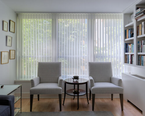 inspiration for vertical blinds for a sliding glass door