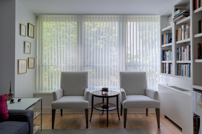 inspiration for vertical blinds for a sliding glass door