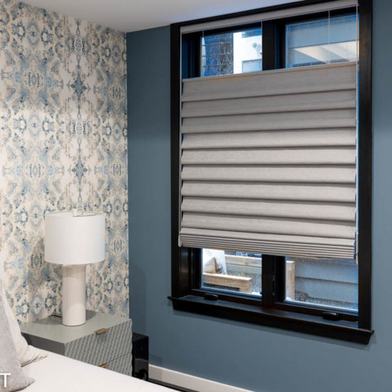 bedroom roman shades