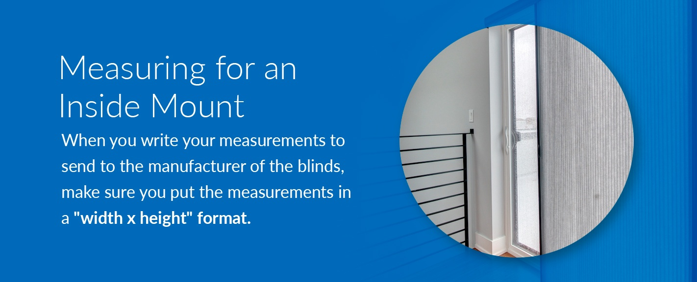measuring for an inside mount