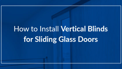 how to install vertical blinds for sliding glass doors